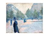 Place Saint Augustin  Misty Weather; La Place Saint-Augustin  Temps Brumeux  1878