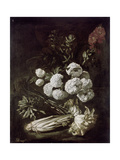 Still Life of Flowers and Vegetables  17th Century