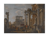 Ruins with the Temple of Antonius and Faustina  C1727-30