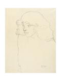 Half-Length Portrait of a Girl in Three-Quarter Profile  1913
