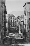 Destruction of the Castres Quarter  Palermo  1860
