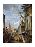 Ruins with a Sibyl and Other Figures  C1720