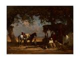 An Arab Encampment  C1880
