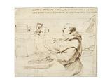 Caricature of Fra Bonaventura Bisi  1655 - 1659