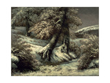 Trees in the Snow  C1865
