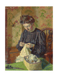 Woman Sewing  C 1908