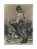 Young Stone Breaker  C 1864 - 1865