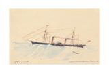 Scotia'  a Cunard Steamship  C1879-80