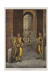 The Pope's Swiss Guards at the Vatican