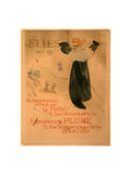 Poster for Elles  French  1864 1901  1896  Lithograph in Olive Green  Blue  and Orange