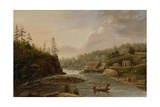 Cheever's Mill on the St Croix River  1847