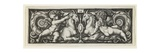 Ornament with Two Genii Riding on Two Chimeras  1544