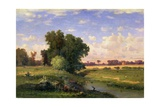 Hackensack Meadows  Sunset  1859