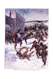 Maisonneuve Covering the Retreat of His Followers 1644  C1920