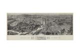 Bird's-Eye View of Oxford  1894