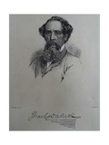 Charles Dickens  after a Photograph by John Watkins  Late 1850S