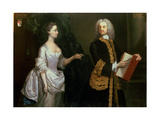A Group Portrait of John Perceval  1st Earl of Egmont (1683-1748) and His Wife Catherine