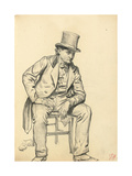 Seated Man  Arm Leaning on His Leg  C 1872-1875