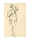 Study for 'A Parisian Cafe': Standing Man with Raised Arm  C 1872-1875