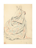 Study for 'A Parisian Cafe': a Seated Woman's Dress from Behind  C 1872-1875