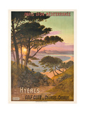 Poster Advertising Hyeres  France  C1900