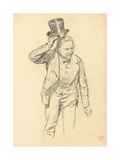 Man Tipping His Hat  C 1872-1875