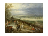 Extensive Landscape with Travellers on a Country Road  C1608-10