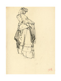 Woman in Dress from Behind  C 1872-1875