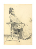 Woman Seated at a Cafe Table  C 1872-1875
