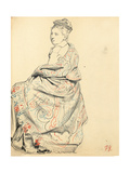 Study for 'A Parisian Cafe': Study of Dress for a Seated Woman  C 1872-1875