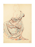 Study for 'A Parisian Cafe': Study of Dress for Seated Woman  C 1872-1875