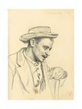 Man with a Hat in Profile  C 1872-1875