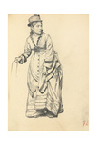 Standing Woman Holding Her Dress  C 1872-1875