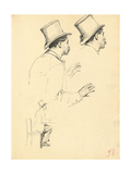 Studies for 'A Parisian Cafe': Sideview of Man's Head with Hat  C 1872-1875
