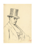 Seated Man with Top Hat  C 1872-1875
