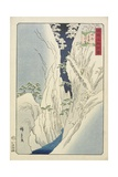 Snow at the Kiso Gorge in Shinshu Province  November 1859