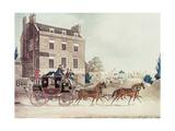 Quicksilver Royal Mail Passing the Star and Garter at Kew Bridge  1835