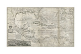 Map of the Caribbean  1715