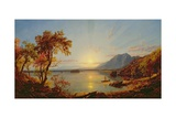 Sunset  Lake George  New York  1867