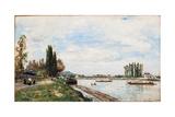 Vue De Meudon Du Pont De Sevres  1866