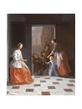Street Musicians at the Door  1665