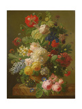 Flowers in a Vase on a Marble Console Table  1816