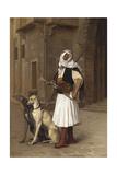 Anaute Avec Deux Chiens Whippets  1867