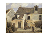 Courtyard of a Bakery Near Paris  or Courtyard of a House Near Paris  C1865-70
