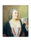 Portrait of Maria Gunning (Gouache) 1749