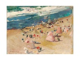Beach at Biarritz  1906