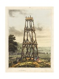 Observatory  from 'An Historical Account of the Battle of Waterloo'  1817 (Coloured Aquatint)