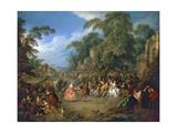 The Fair at Bezons  Ca 1733