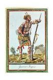 Iroquois Warrior  from 'Encyclopedie Des Voyages'  Engraved by J Laroque  1796