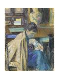 Madame Guillaumin Avec Madeleine  1889